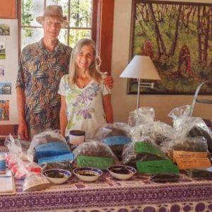 Founders James and Kari at the Breithenbush Herbal Conference