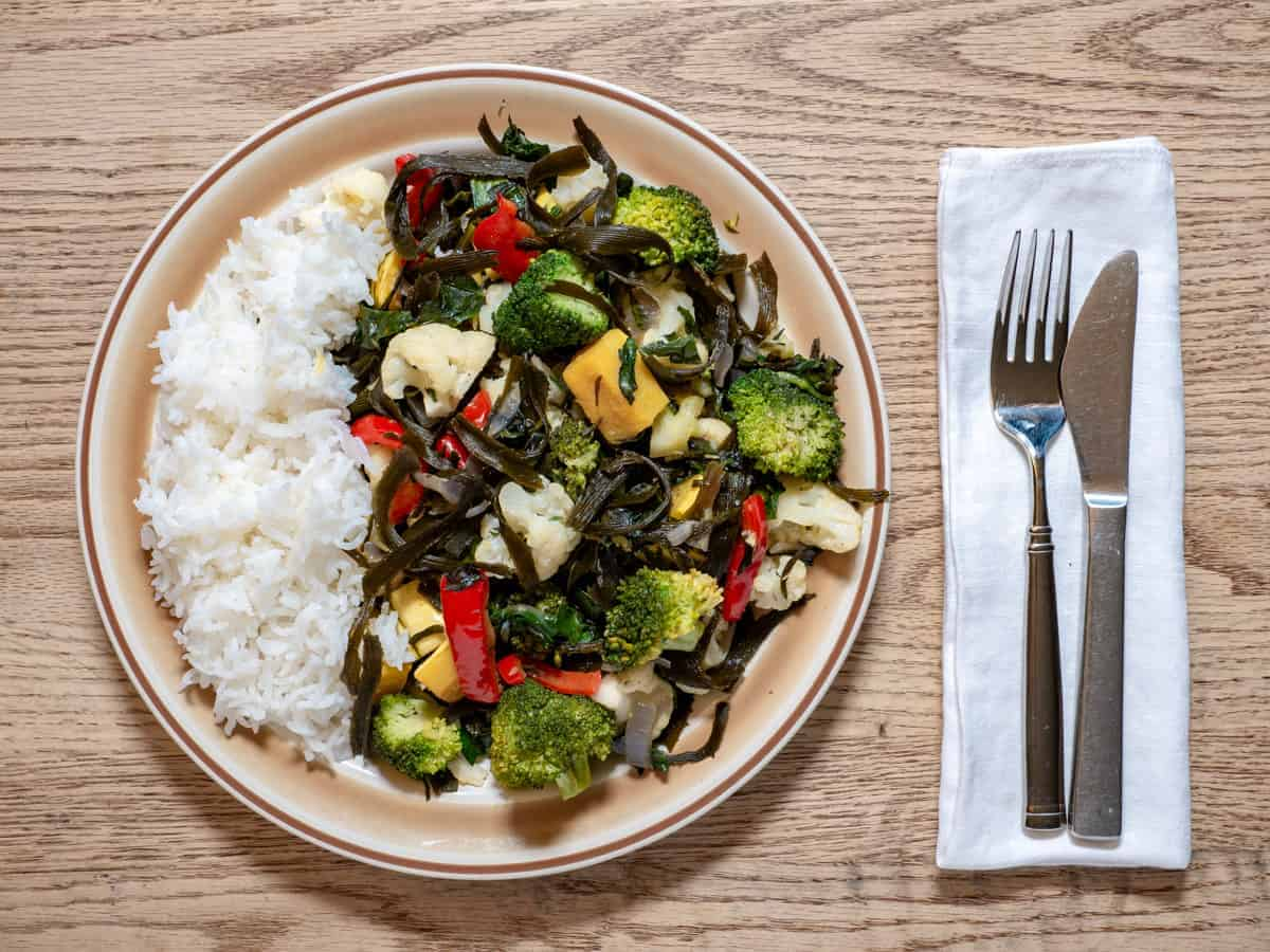 Seaweed Recipes - Sea Palm Stir Fry