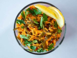 Seaweed Recipes Thumbnail - Carrot Wakame Salad